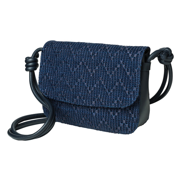 Lucia Navy Jute | UK | La Portegna UK | Handmade Leather Goods | Vegetable Tanned Leather