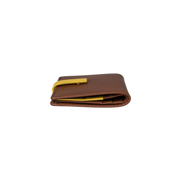 Slim Jim Yellow | Wallets UK | La Portegna UK | Handmade Leather Goods | Vegetable Tanned Leather