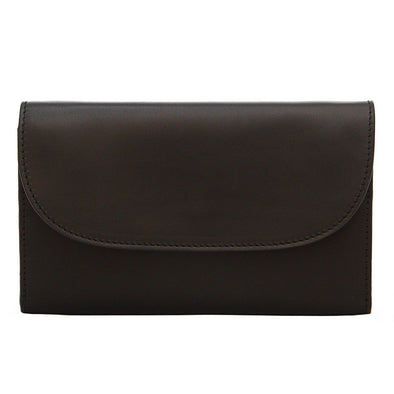 Leather Crossbody Bag | Purses | Lucia Black Chain - Front