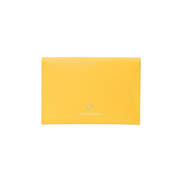 Evita Yellow | Wallets UK | La Portegna UK | Handmade Leather Goods | Vegetable Tanned Leather