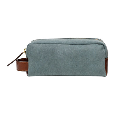 Mini Dopp Kit Aqua Washcases | La Portegna UK | Handmade Leather Goods | Vegetable Tanned Leather