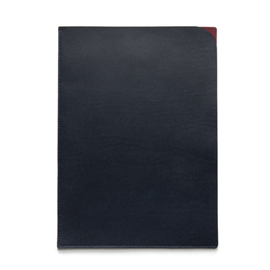Document Holder Navy | UK | La Portegna UK | Handmade Leather Goods | Vegetable Tanned Leather