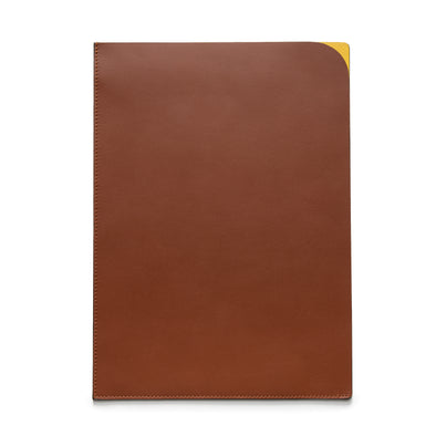 Document Holder Yellow | Sunglasses Cases UK | La Portegna UK | Handmade Leather Goods | Vegetable Tanned Leather