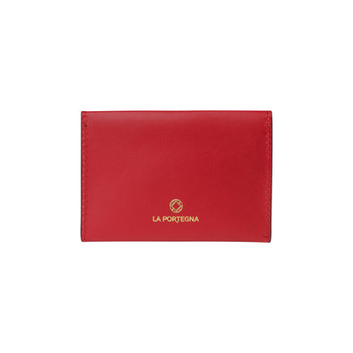 Evita Red | Wallets UK | La Portegna UK | Handmade Leather Goods | Vegetable Tanned Leather