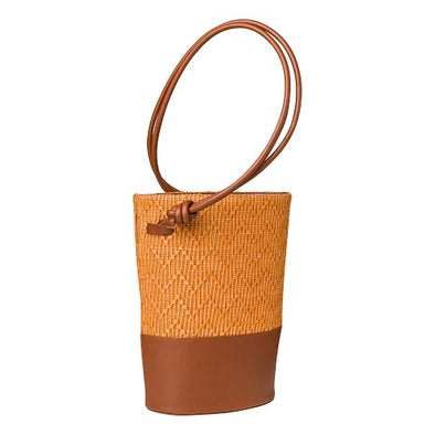 Clara Jute Caramel | UK | La Portegna UK | Handmade Leather Goods | Vegetable Tanned Leather
