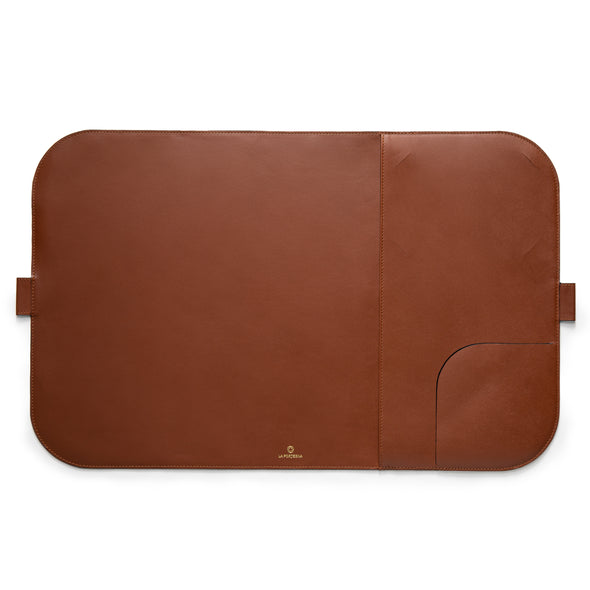 Computer Mat Tabaco | Sunglasses Cases UK | La Portegna UK | Handmade Leather Goods | Vegetable Tanned Leather