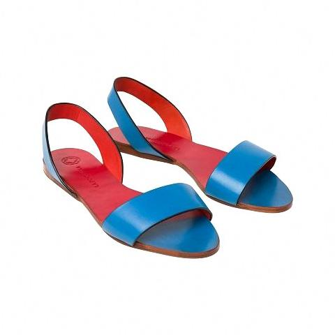Leticia Blue & Red | UK | La Portegna UK | Handmade Leather Goods | Vegetable Tanned Leather