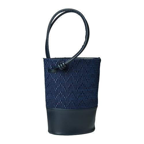 Clara Jute Navy | La Portegna UK | Handmade Leather Goods | Vegetable Tanned Leather