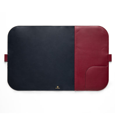 Computer Mat Navy | Sunglasses Cases UK | La Portegna UK | Handmade Leather Goods | Vegetable Tanned Leather
