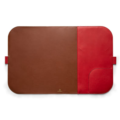 Computer Mat Red | Sunglasses Cases UK | La Portegna UK | Handmade Leather Goods | Vegetable Tanned Leather