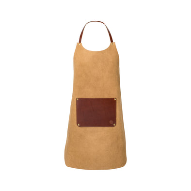 Apron Gold | La Portegna UK | Handmade Leather Goods | Vegetable Tanned Leather