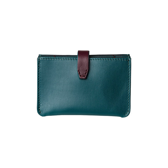 Eleonora Petrol & Burgundy | La Portegna UK | Handmade Leather Goods | Vegetable Tanned Leather