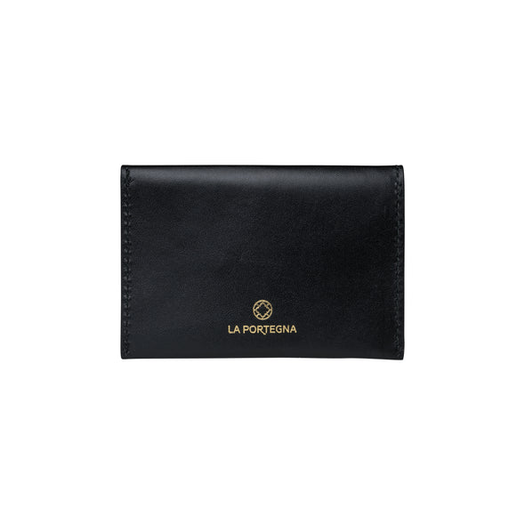 Evita Black Wallets | La Portegna UK | Handmade Leather Goods | Vegetable Tanned Leather