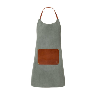 Apron Olive | La Portegna UK | Handmade Leather Goods | Vegetable Tanned Leather