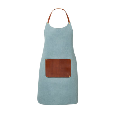Apron Aqua | La Portegna UK | Handmade Leather Goods | Vegetable Tanned Leather