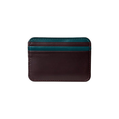 Humphrey Bicolor Burgundy | Wallets UK | La Portegna UK | Handmade Leather Goods | Vegetable Tanned Leather