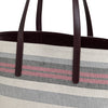 Olivia Tote Burgundy Stripes | Shoulder Bags UK | La Portegna UK | Handmade Leather Goods | Vegetable Tanned Leather