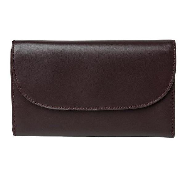 Lucia Burgundy & Petrol Chain Purses | La Portegna UK | Handmade Leather Goods | Vegetable Tanned Leather