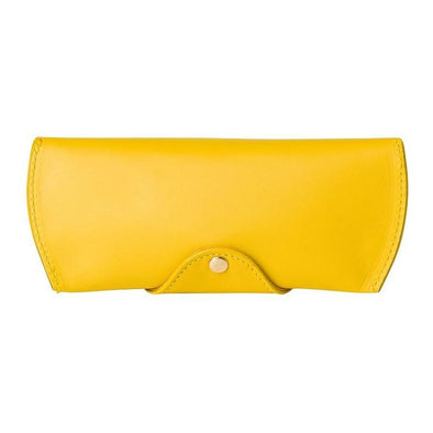 Sunglasses Case Mustard Sunglasses Cases | La Portegna UK | Handmade Leather Goods | Vegetable Tanned Leather