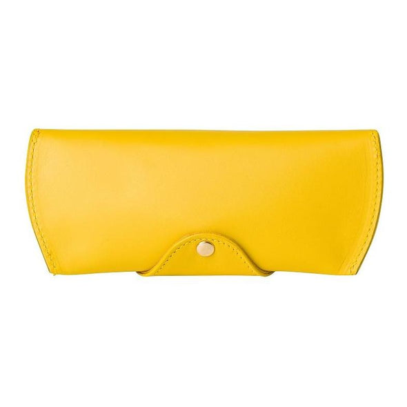 Sunglasses Case Mustard | Sunglasses Cases UK | La Portegna UK | Handmade Leather Goods | Vegetable Tanned Leather