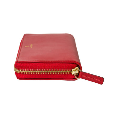 Julia Purse Red | La Portegna UK | Handmade Leather Goods | Vegetable Tanned Leather