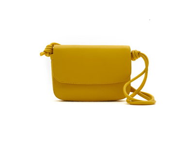 Lucia Small Mustard | Shoulder Bags UK | La Portegna UK | Handmade Leather Goods | Vegetable Tanned Leather