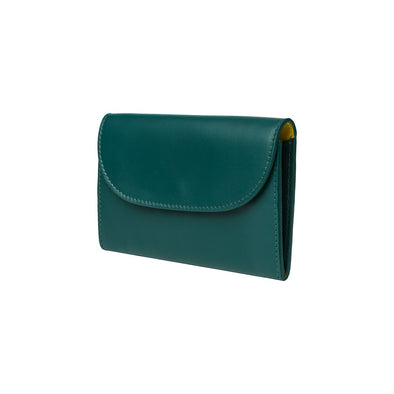 Lucia Mini Purse Petrol | Purses UK | La Portegna UK | Handmade Leather Goods | Vegetable Tanned Leather