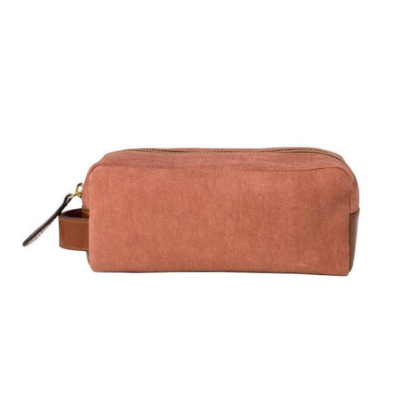 Mini Dopp Kit Terracota Washcases | La Portegna UK | Handmade Leather Goods | Vegetable Tanned Leather
