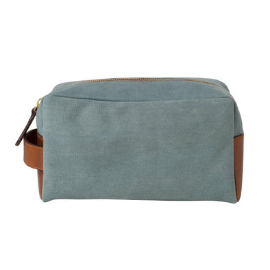 Dopp Kit Aqua Green Washcases | La Portegna UK | Handmade Leather Goods | Vegetable Tanned Leather