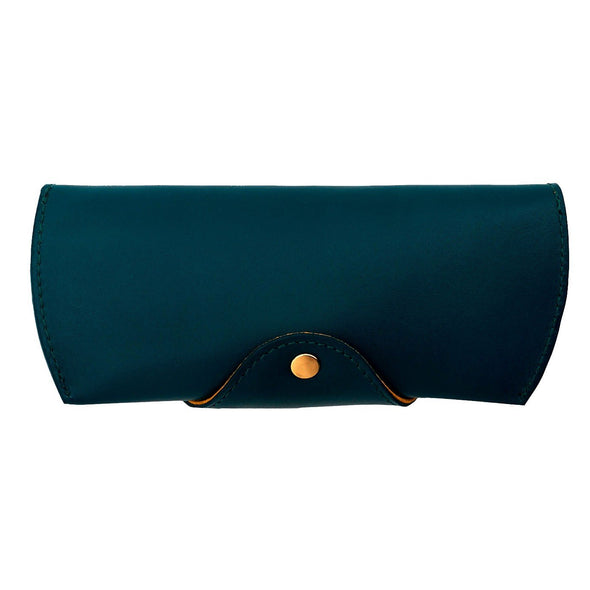 Leather Glasses Case | Petrol Sunglasses Case - Back