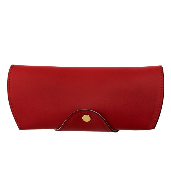 Leather Glasses Case | Red Sunglasses Case - Back