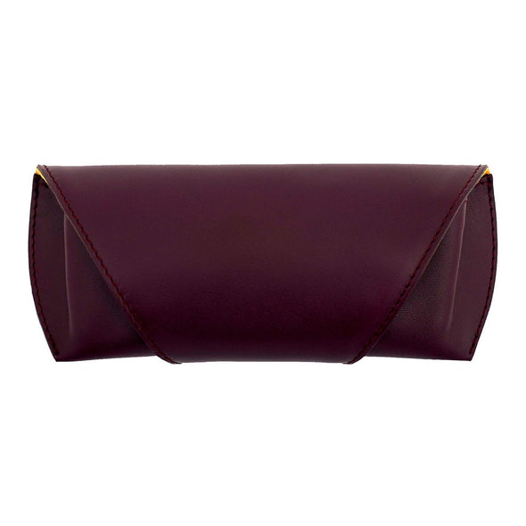Sunglasses Case Burgundy Sunglasses Cases | La Portegna UK | Handmade Leather Goods | Vegetable Tanned Leather