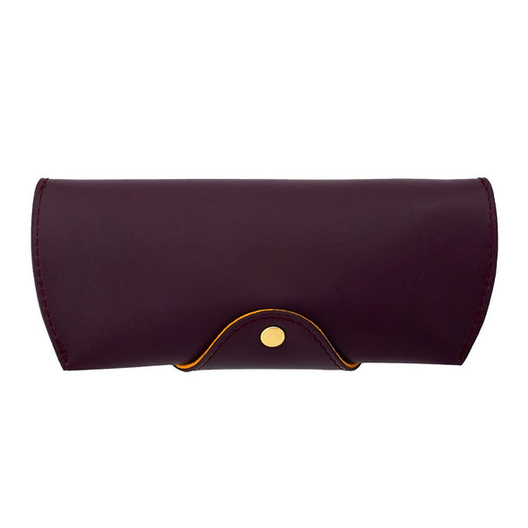 Leather Glasses Case | Burgundy Sunglasses Case - Back