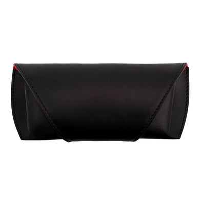 Sunglasses Case Black | Sunglasses Cases UK | La Portegna UK | Handmade Leather Goods | Vegetable Tanned Leather