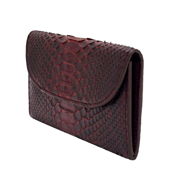 Mini Purses | Lucia Python Burgundy - Side