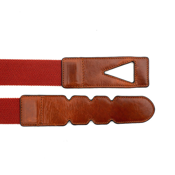 Branson Red Belts | La Portegna UK | Handmade Leather Goods | Vegetable Tanned Leather