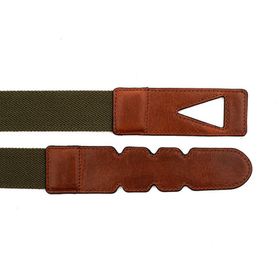 Green and brown cotton belt by La Portegna