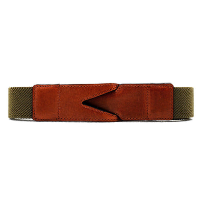 Handmade cotton belt Branson Green by La Portegna