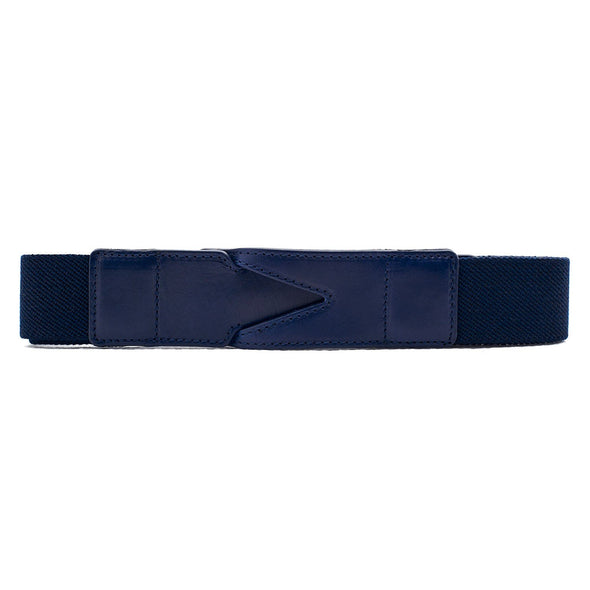 Handmade cotton belt Branson Blue by La Portegna