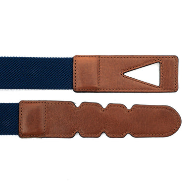 Blue and brown cotton belt Branson Navy & Sol
