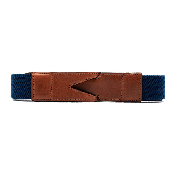 Handmade cotton belt Branson Navy & Sol by La Portegna