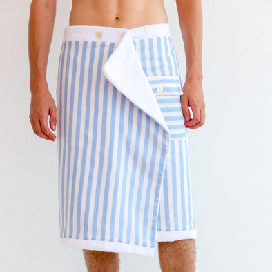 Jerry Icon Blue Stripes | La Portegna UK | Handmade Leather Goods | Vegetable Tanned Leather