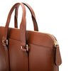 Slim Carter Tabaco | Briefcases UK | La Portegna UK | Handmade Leather Goods | Vegetable Tanned Leather