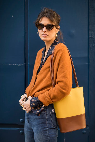 Clara Brown and Mustard | UK | La Portegna UK | Handmade Leather Goods | Vegetable Tanned Leather