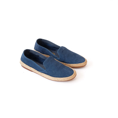 Daniela Nappa Electric Blue Espadrilles | La Portegna UK | Handmade Leather Goods | Vegetable Tanned Leather