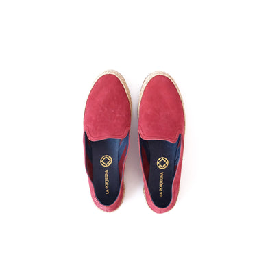 Daniela Burgundy Espadrilles | La Portegna UK | Handmade Leather Goods | Vegetable Tanned Leather