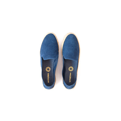 Daniela Nappa Electric Blue | Espadrilles UK | La Portegna UK | Handmade Leather Goods | Vegetable Tanned Leather