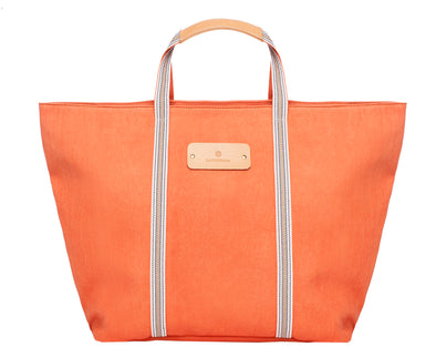 Maxi Tote Coral | UK | La Portegna UK | Handmade Leather Goods | Vegetable Tanned Leather