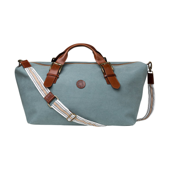 Mick Aqua Green Travel Bags | La Portegna UK | Handmade Leather Goods | Vegetable Tanned Leather