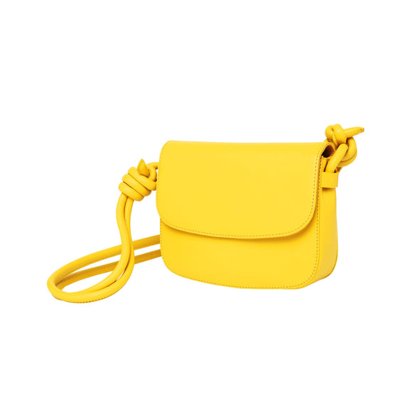 Lucia Mini Yellow Shoulder Bags | La Portegna UK | Handmade Leather Goods | Vegetable Tanned Leather